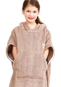 Girls Towelling Poncho
